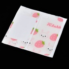 Cute Cartoon Style Decorative Protective Front + Back Cover Skin Sticker for Iphone 4 / 4S - Pink