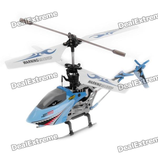 S800G Rechargeable 4-CH R/C Helicopter with Gyroscope & IR Controller - Blue rechargeable wireless 3 ch control r c radio control helicopter with gyroscope