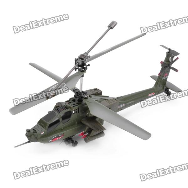S113G 27MHz Rechargeable 3.5-CH R/C Helicopter with Gyroscope - Army Green