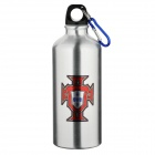 Portuguese National Soccer Team Logo Water Bottle with Carabineer - Silver