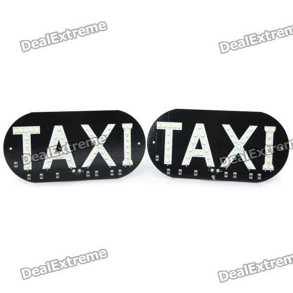 13~14LM 6000~7000K 46-SMD LED White Light Taxi Board (12V / Pair) london taxi board book