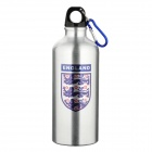 England National Soccer Team Logo Water Bottle with Carabineer - Silver