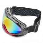 Protection Safety Skiing Glasses / Goggles with Elastic Strap - Black + Rose Red