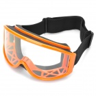 Protection Safety Skiing Glasses / Goggles with Elastic Strap - Orange
