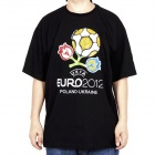 2012 European Football Championship T-shirt - Black (Size-XXL)