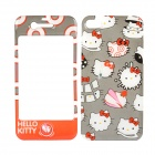 Dekorative Hallo Kitty Style-Front + Back Cover Haut Aufkleber für iPhone 4 / 4S - Grau + Rot