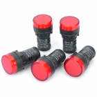 12V Red Light Car Signal Light (5-Piece)