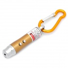 3-in-1 1mW Red Laser + White Light + Money Detector with Carabiner Clip - Yellow (3 x AG13)