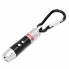 3-in-1 1mW Red Laser + White Light + Money Detector with Carabiner Clip - Black (3 x AG13)