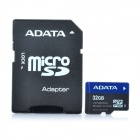 Genuine ADATA MicroSDHC TF Card with SD Adapter - Black (32GB)