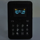 Mini-M1 GSM Bar Phone w/1.2&quot; TFT LCD, Single SIM and Quadband - Black