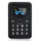 "Mini-M1 GSM Bar Phone w/1.2"" TFT LCD, Single SIM and Quadband - Black"