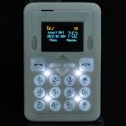 Mini-M1 GSM Bar Phone w/1.2&quot; TFT LCD, Single SIM and Quadband - White