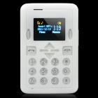 "Mini-M1 GSM Bar Phone w/1.2"" TFT LCD, Single SIM and Quadband - White"