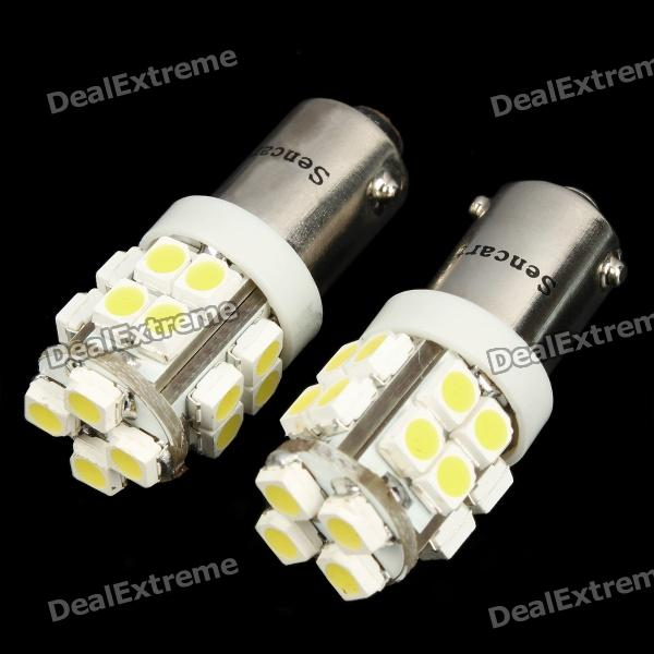 BX9S 20x3528 SMD LED 1.5W 6000~6500K 100~120LM White Light Lamp