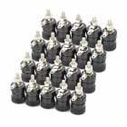 DIY 4mm Audio Speaker Binding Post Terminal - Black (20-Piece Pack)