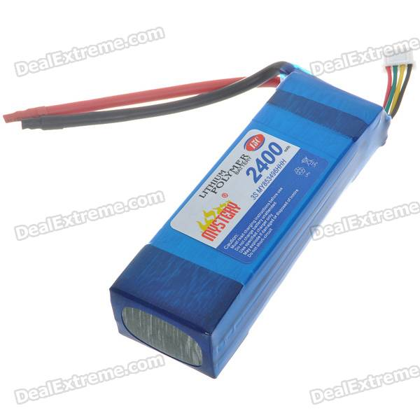 2400mAh 11.1V 15C Rechargeable Lithium Battery Pack