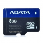 Genuine ADATA MicroSDHC TF Card - Black + Blue (8GB)