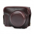 Protective Crazy Horse PU Leather Case for Canon G1X - Coffee