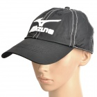 Embroidered Mizuno Pattern Water Resistant Fabric Baseball Hat / Cap - Black