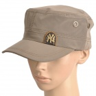 Water Resistant Fabric Casual Cap Hat - Coffee