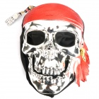 Pirate Skull Style Mask - Silver + Red