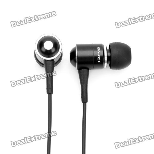 Awei Q3i Earphone w/ Microphone for Iphone 4 / 4S / Ipad / Ipad 2 /the New Ipad (3.5mm Jack/150cm)