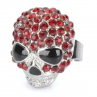 Skeleton Style Rhinestone + Zinc Alloy Finger Ring