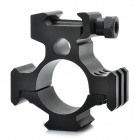 Aluminum Alloy Tri-Rail Barrel Gun Mount - Black