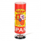 Spain National Football Team Badge Cover E14 Light Bulb Desktop Lamp - Blue (AC 220V / EU Plug)