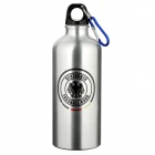 Germany Football National Team Badge Aluminum Alloy Water Bottle w/ Carabiner - Silver (600ml)