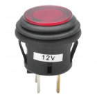 Empuje Car Button Switch con LED rojo Indicador (DC 12V)