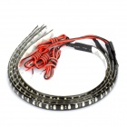 2.5W 32x3528 LED Multi-Colored Light Car Decorative Strip (4-Piece / DC 12V)