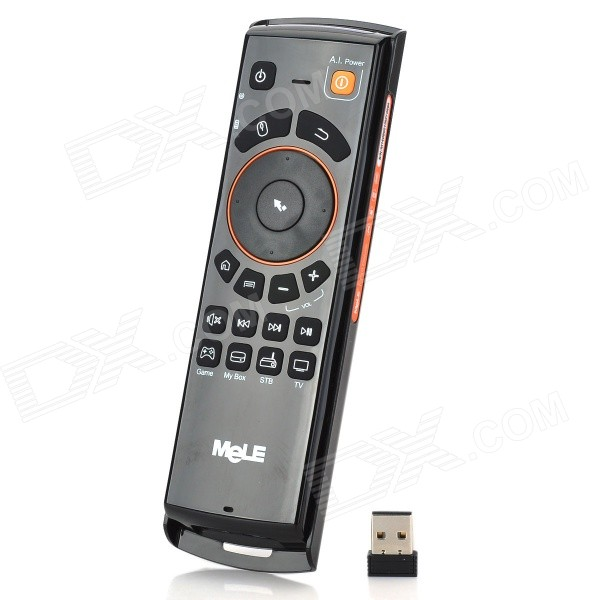 Mele F10 2.4GHz Wireless Remote Control Air Mouse w/ Keyboard - Black