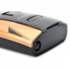 "1.5"" LED Car Radar Detector with Mounting Bracket - Golden + Black"