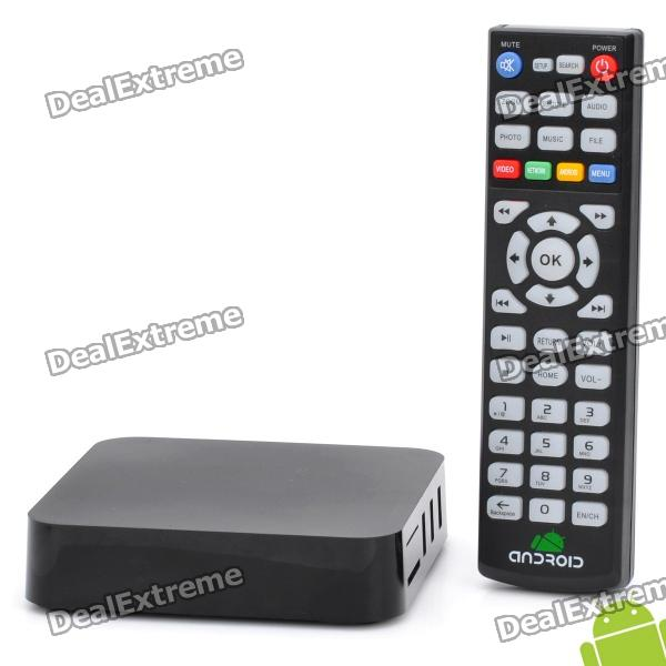 Google Android 4.0 HDMI TV Box w/ 4GB / WiFi / RJ45 / AV-Out / SD / MMC / USB / Remote Control pvt 898 5g 2 4g car wifi display dongle receiver airplay mirroring miracast dlna airsharing full hd 1080p hdmi tv sticks 3251