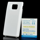 Replacement 3.7V 3800mAh Extended Battery w/ Back Cover for Samsung Galaxy S II / i9100 - White