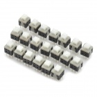 DPDT 5.8mm 6-Pin Non-Locking Micro Flache Schalter DIY Parts - Black + White (20-Stück-Packung)
