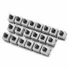8.5mm 2-Pin Mini Micro No Lock Switch with Push Button - Black + Grey (20-Piece Pack)