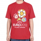 2012 European Football Championship T-shirt - Red (Size-XL)