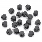 0.1A Non-Locked 6.0mm Square 2-Pin Push Button Switches - Green (DC 60V / 20-Piece Pack)