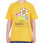 2012 European Football Championship T-shirt - Yellow (Size-XL)