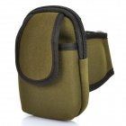 Zippered Sports Armband Bag Pouch for Iphone 4 - Army Green