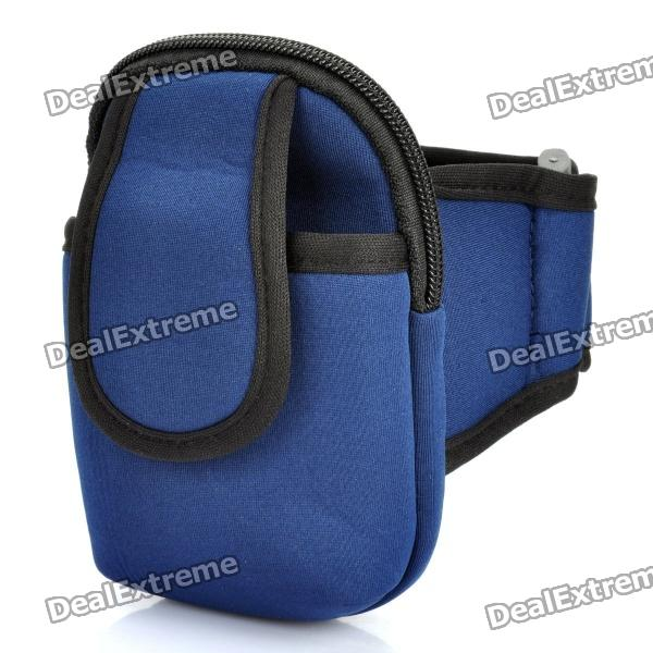 Zippered Sports Armband Bag Pouch for Iphone 4 - Dark Blue люстра подвесная 2673 4 odeon light