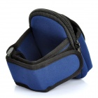 Zippered Sports Armband Bag Pouch for Iphone 4 - Dark Blue