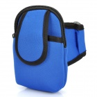 Zippered Sports Armband Bag Pouch for iPhone 4 - Light Blue