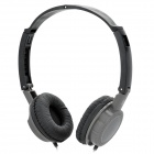 Folding Stereo Headset Headphone - Black + Grey (3.5mm-Plug)