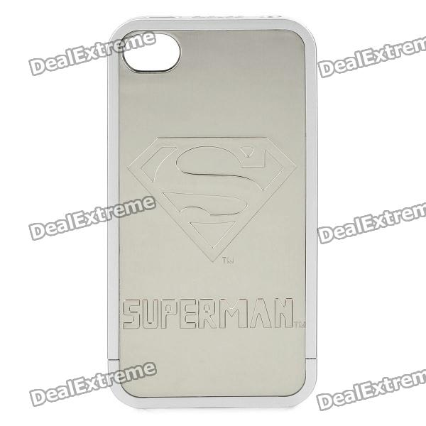 Superman Pattern Detachable Drawing Electroplating Panel for iPhone 4 / 4S Case
