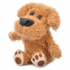 Cute Talking Mimicry Stuffed Dog Pet - Brown (3 x AAA)