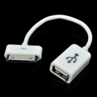 USB OTG Adapter Cable for Samsung Galaxy Tab P6800 / P6810 / P6200 / P6210 - White (85mm)
